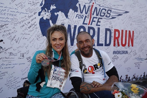 Tiphany Adams and I at the Red Bull Wings for Life World Run 2015