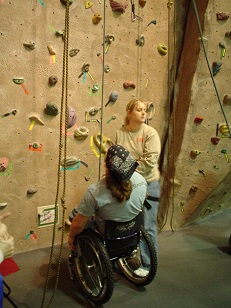 Adapted Rock Climbing at GVSU